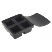 Ice tray with lid, silicone, 4 cubes (4,5cm)