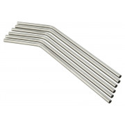 Drinking straws, stainless steel (5x230mm) - 6 pcs.
