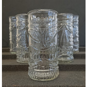 Tiki glasses set with 3 designs - 500ml (6 pcs.)
