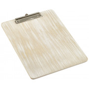 Clipboard DIN A4, wooden - white