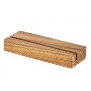 Sign holder, wood, large - 20x7,5x3,2cm