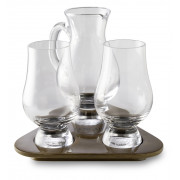 The Glencairn Tasting set with 2 glasses, water jar and wooden tray
