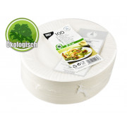 Ecological paper plates - 19cm (100pcs.)