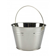Bucket, silver-coloured- stainless steel (6L)