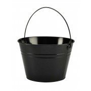 Bucket, black - stainless steel (6L)