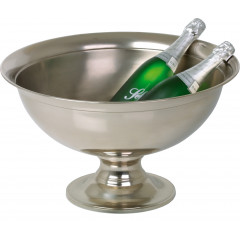 Champagne cooler - hard nickel plated, 51cm