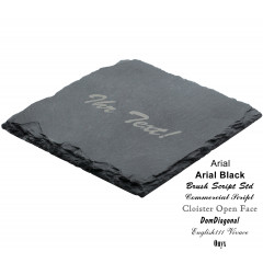 Coaster, natural slate, 10X10cm (4 pieces) with engraving