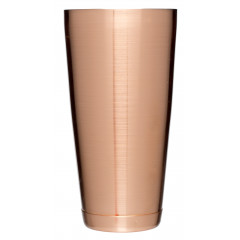 Boston Shaker with Bottom Cap - copper coloured