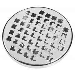 Drip tray, round, crosses - Stainless Steel