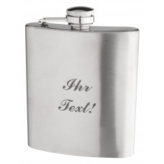 Stainless steel flask, 200ml - with your text
